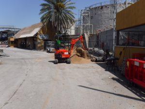 גריטת חוות מיכלי דלק בעורף נמל אשדוד